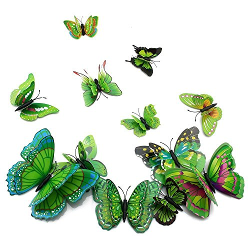 - Amaonm 24 PCS 3D Cute Cartoon Animails Butterfly Wall Decals Removable DIY Double Wings Butterflies Crafts art Decor Wall Stickers Murals for Kids Girls Bedroom Living Room Classroom Offices