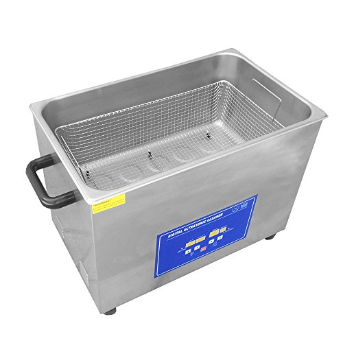 New 30L / 8 Gallon 1100W Ultrasonic Cleaner with 600W Cleaning Power + 500W Heater with Stainless Steel Basket & Time for Industrial Parts Commercial Carb Carburetor