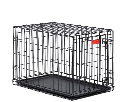Midwest Life Stages Double-Door Folding Metal Dog Crate 36 Inches by 24 Inches by 27 Inches