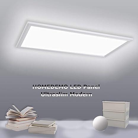 HOMEDEMO Deckenleuchte LED Panel 120x30cm Ultraslim Modern 40W Neutralweiß  4000K Deckenlampe für Schlafzimmer Küche Flur Wohnzimmer Wandleuchte innen  ...