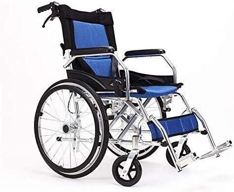 HYY-YY Manual de la Silla de Ruedas Silla de Ruedas Plegable, Ultra Ligera móviles en Silla de Ruedas al Aire Libre Viajes Presidente, Ancianos y discapacitados