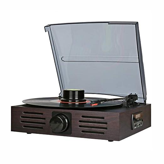 SMLCTY Moderno Disco de Vinilo Jugador, Multifuncional LP ...