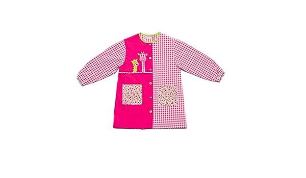 Dyneke Bata escolar botón rosa Jirafas (Talla 4): Amazon.es: Ropa y accesorios