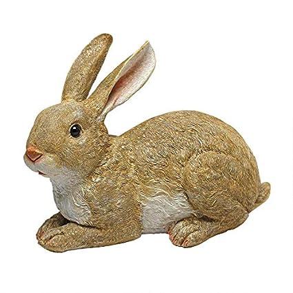 Amazon.com: Design Toscano Bashful el conejo conejo acostado ...