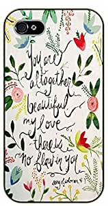 iPhone 5 / 5s Bible Verse - Floral: You are altogether beautiful my love - black plastic case / Verses, Inspirational and Motivational