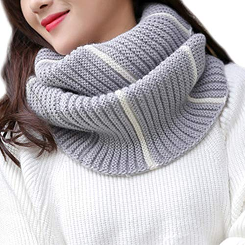 - Women men Winter Warm Knit Cowl Neck Cotton Scarf Shawl Ring