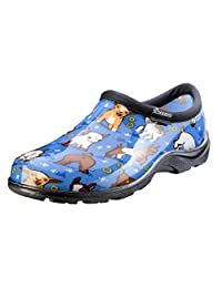 Sloggers Women's Waterproof  Rain and Garden Shoe with Comfort Insole, Goats Sky Blue, Size 7, Style 5118GOBL07