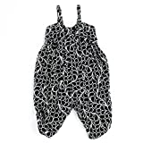 LELEFORKIDS - Toddlers and Girls Blooming in Cuteness Jumpsuit in Black Koi Design 7/8