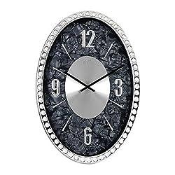 SMC 18-inch Diamond Infinity - Oval Wall Clock, Unique Decorative Clock, Metal Frame