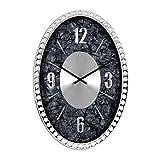Cheap SMC 18-inch Diamond Infinity – Oval Wall Clock, Unique Decorative Clock, Metal Frame