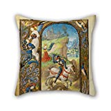 beautifulseason The oil painting Lieven van Lathem (Flemish - Saint George and the Dragon throw cushion covers of ,18 x 18 inches / 45 by 45 cm decoration,gift for boys,floor,pub,girls,dinning room,