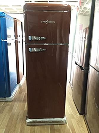 Retro Mocca brillo/A +/Nevera y congelador frigorífico combi/SL 208 ...