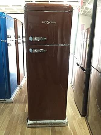 Retro Mocca brillo/A +/Nevera y congelador frigorífico combi/SL ...