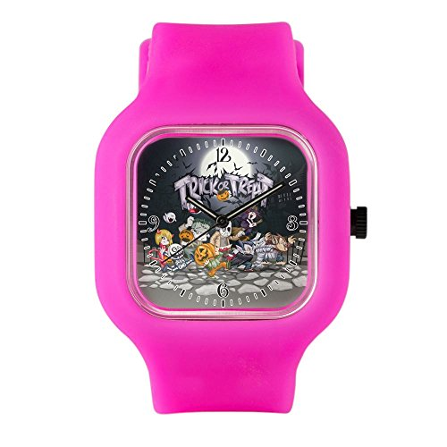 Bright Pink Fashion Sport Watch Halloween Trick or Treat Costumes