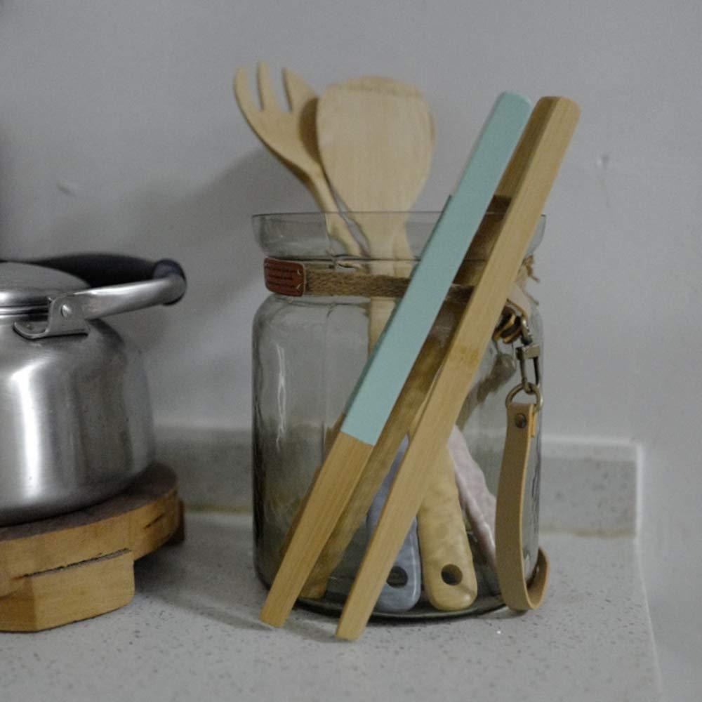 LaMei Yang Brot Clip Bamboo Fried Steak Clamp Bambus Brotzangen K/üche Lebensmittelzangen BBQ Tool Gadget Holz Clip Clamp Verwendung f/ür Toast Obst Brot Gurken