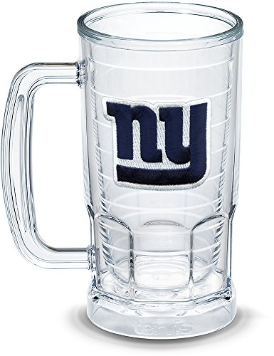 - Tervis 1303304 NFL New York Giants Primary Logo Insulated Tumbler with Emblem, 16oz Beer Mug, Clear