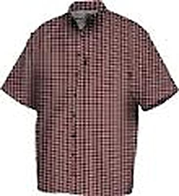 Drake Vented Delta Short Sleeve Casual Hunting Shirt (Red) (Men's Small)
