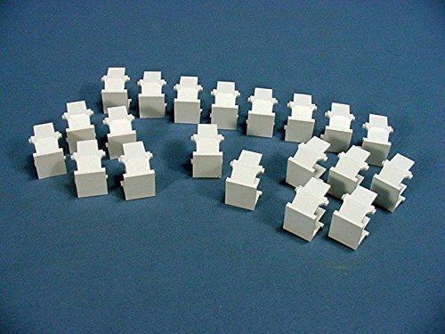 Leviton 41084-W QuickPort Blank Insert, White, 20-Pack (Leviton Blank Insert)