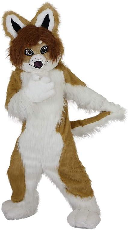 Fox Fur Mask Fancy Adult Kids Face Cover Dress up Fluffy Animal Halloween Wolf