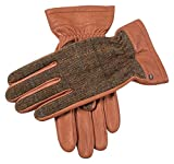 Havana Brown/Chestnut Richmond Cashmere Lined Deerskin Leather Abraham Moon Gloves by Dents - Large