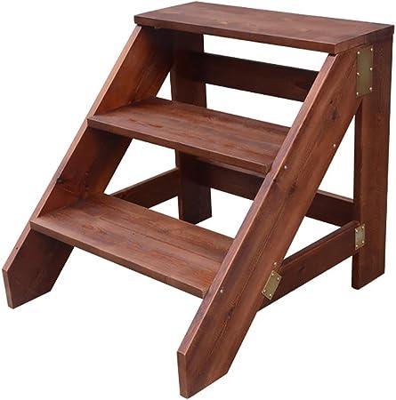 Escalera banqueta,taburetes para Adultos, Taburete de Escenario para el hogar, Refuerzo de múltiples Capas/versatilidad / 150 kg de Alta Carga: Amazon.es: Hogar