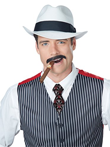 Speakeasy Costume Men (California Costumes Men's Gangster Stache, Brown, One Size)