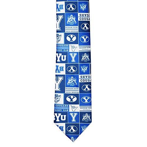 - NCAA BYU Cougars Logo Pattern Mens Tie Fan Frenzy Gifts