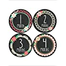 Months in Motion 352 Monthly Baby Stickers Baby Girl - Months 1-12 - Chalkboard