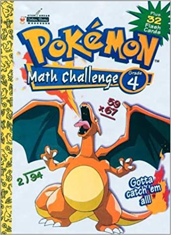 Pokemon Math Challenge Grade 4 Plus 32 Flash Cards: Golden Books ...
