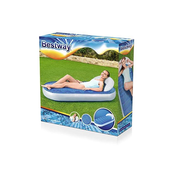 51KEZHK6NdL Relájate en el jardín con esta colchoneta hinchable LLena de agua la cámara superior para conseguir la relajación que necesitas Se infla y desinfla de forma sencilla y rápida