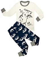 Children Pajamas Cotton Dinosaur Kids Clothes Boys Size 2Y-10Y