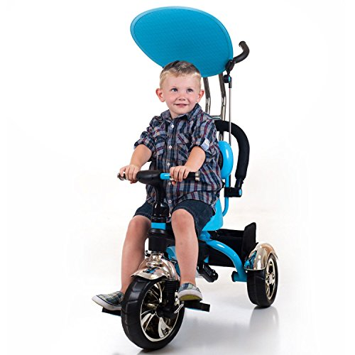 stroller tricycle with push handle 4 in 1 convertible fully adjustable safety bar cushioned seat. Black Bedroom Furniture Sets. Home Design Ideas