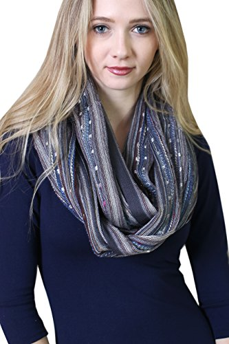 Women's Festival Bliss Multicolor Infinity Scarf, Boho Chic Shawl (Starry (Ladies Business Scarf)