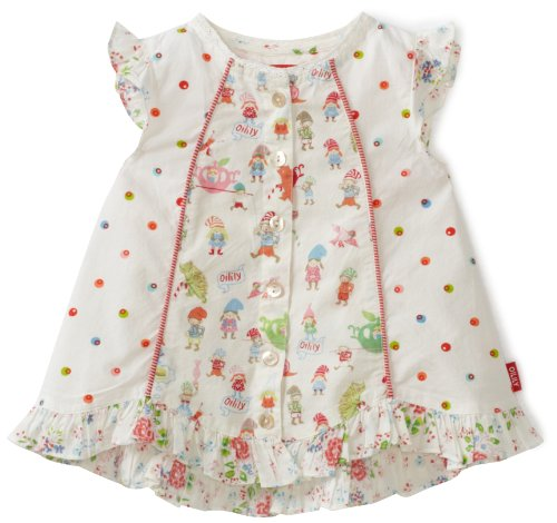Oilily Little Girls' Bibi Dwarf Dot Mix Blouse