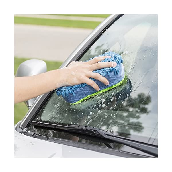 Car Wash Sponge BlizeTec 2 Stylist Microfiber Cleaning Car Scrub Pad And Towel