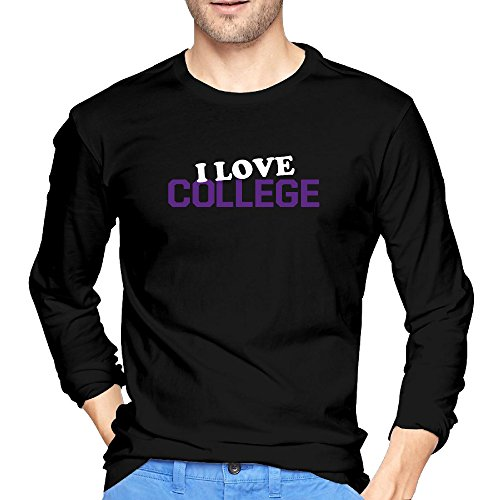 Man I Love College O-Neck Long Sleeves Fashion Crazy Shirts (Textbooks Isbn Number Search compare prices)