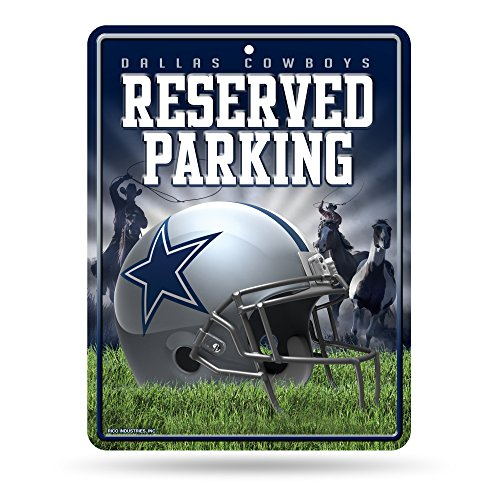 NFL Dallas Cowboys 8-Inch by 11-Inch Metal Parking Sign Décor -
