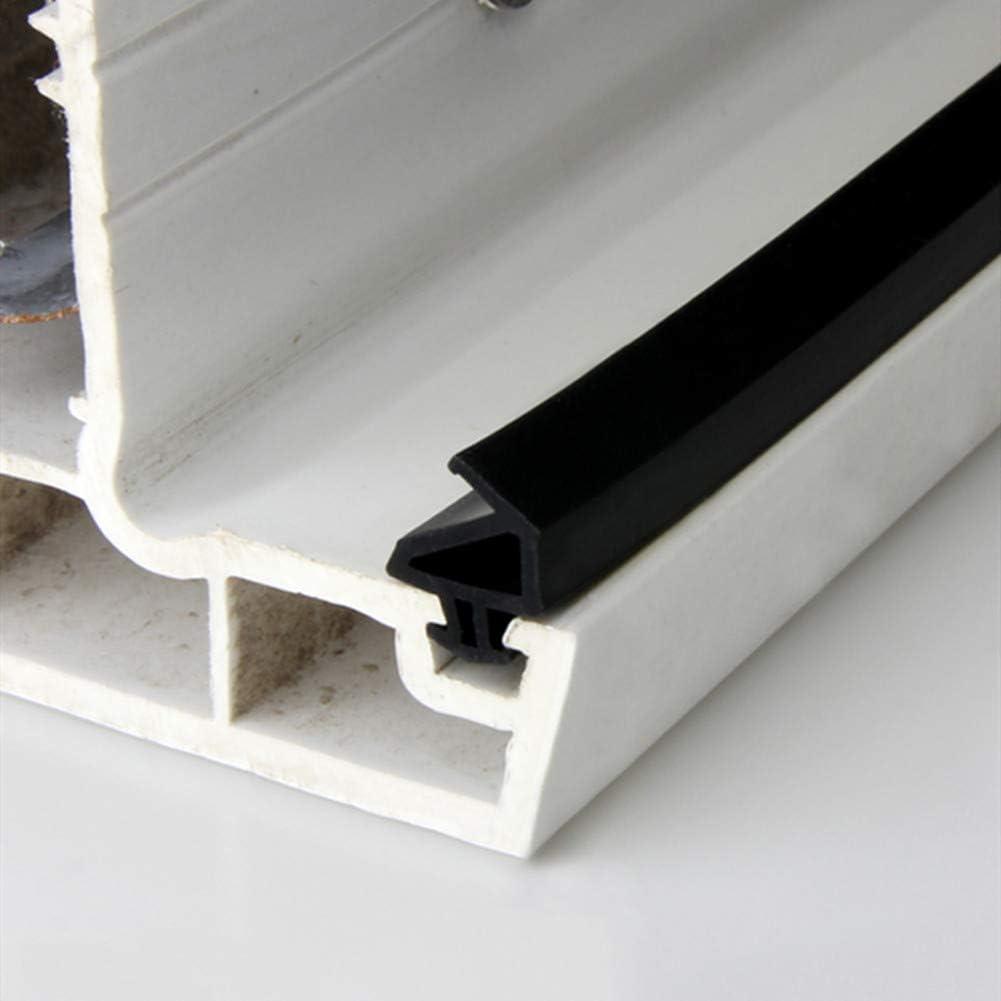CGC8 Fensterdichtung UPVC Silikon-Gummi Ersatzdichtung T/ür Und Fensterdichtung Black 10 Meter,10mm*5mm