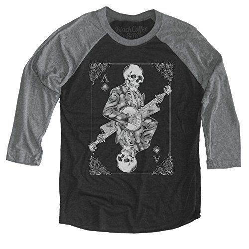 Banjo Player Shirt - Skeleton Playing Banjo Long Sleeve Unisex Shirt]()
