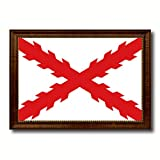 Spanish Ensign Spain Royal War Military Flag Canvas Print with Brown Picture Frame Home Decor Wall Art Decoration Gifts