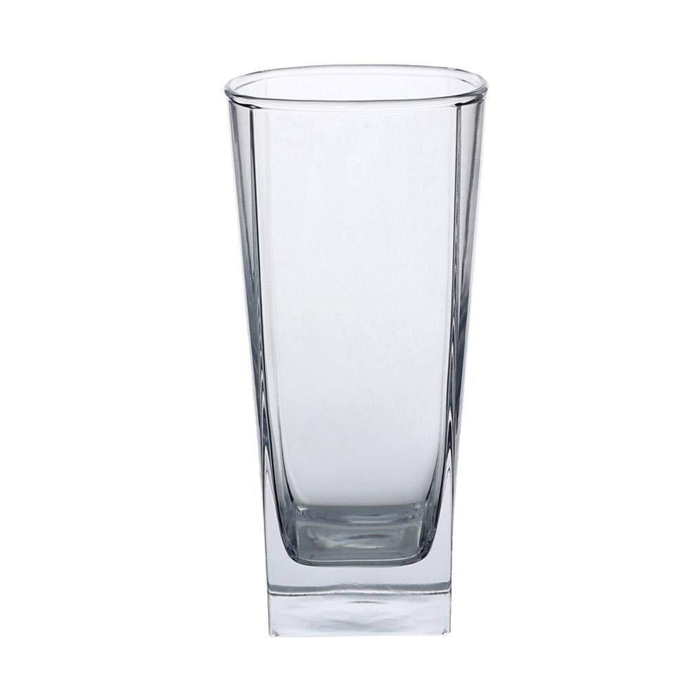 Kitchen Tea Set Porcelain Drinkware Set Saucers Transparent Glass Cup Heat-Resistant Creative bar Wine (Color : 270ml 1475cm)
