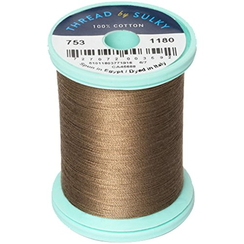 Sulky 753-1180 Cotton and Steel Thread 50wt 660 yards - Truffle Taupe
