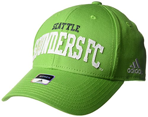 adidas MLS Seattle Sounders Fc Women's SP17 Fan Wear Sequenced Structured Adjustable Cap, Green, One Size (Spring Womens Adidas)