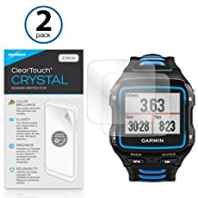 Garmin Forerunner 920XT Screen Protector, BoxWave® [ClearTouch Crystal (2-Pack)] HD Film Skin - Shields From Scratches for Garmin Forerunner 920XT