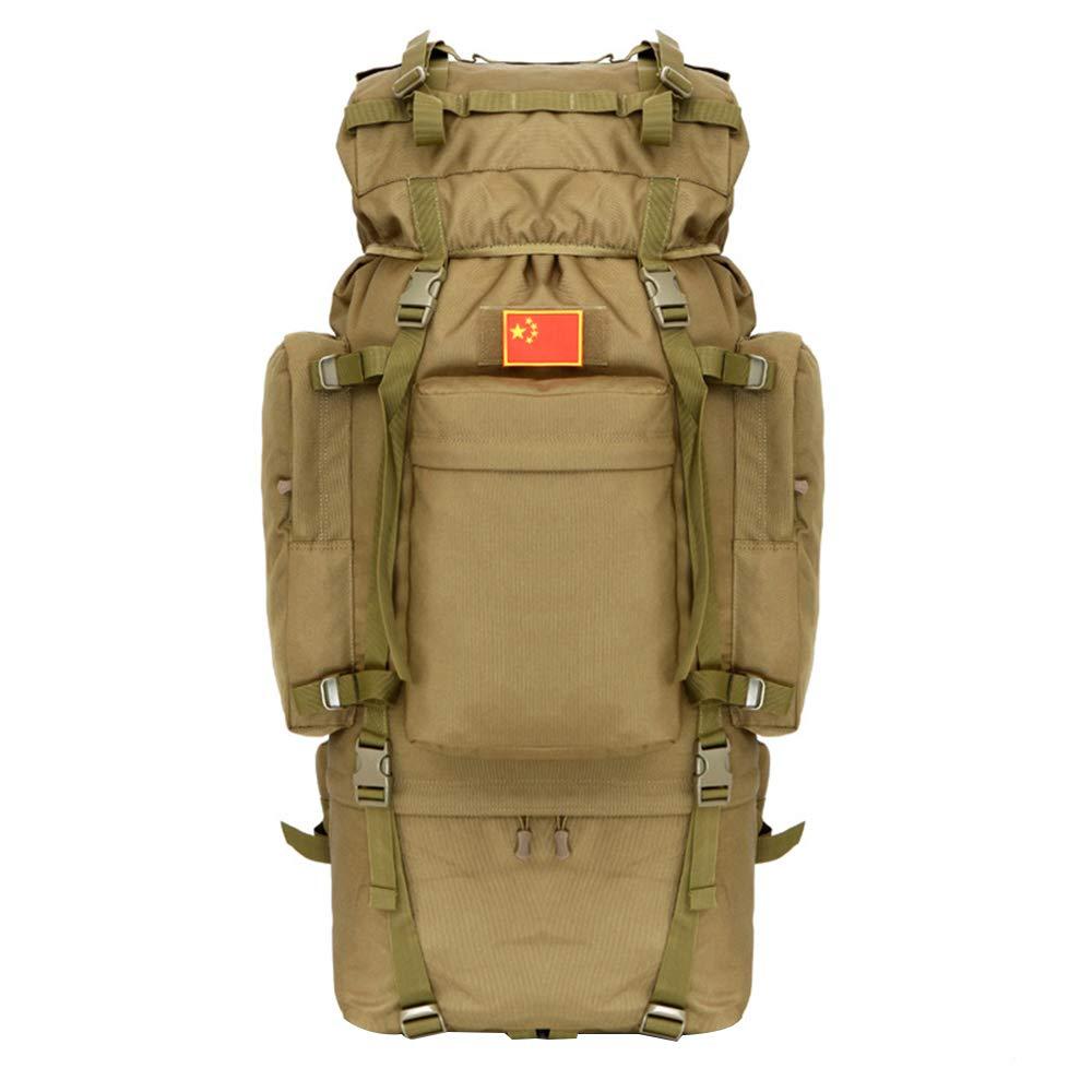 アウトドア旅行キャンプ登山バッグ、オックスフォード布防水と通気性大容量100Lリュックサック男性と女性の戦術的なバックパック、ロッククライミング/釣り/ハイキングに適して  coffee color B07QNLHPLL