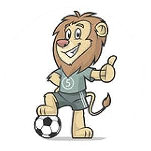 alfombrilla de ratón León futbolista que muestra el pulgar hacia arriba - ronda - 20cm