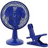 """Genesis A1CLIPFANBLUE 6-Inch Clip-On Fan, 6"""" Blue"""