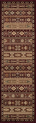 Momeni Rugs BELMOBE-04RED2376 Belmont Collection, Traditional Area Rug, 2'3