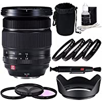 Fujifilm XF 16-55mm f/2.8 R LM WR Lens + 77mm 3 Piece Filter Set (UV, CPL, FL) + 77mm +1 +2 +4 +10 Close-Up Macro Filter Set with Pouch Bundle 3
