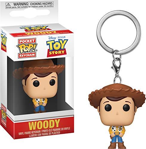 Funko 37018 - Llavero de Bolsillo Toy Story Woody, Multi